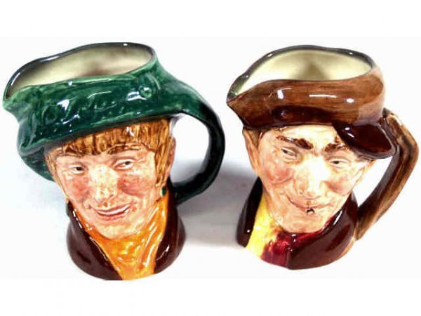 403: TWO ROYAL DOULTON TOBY MUGS 'ARRIET 'ARRY