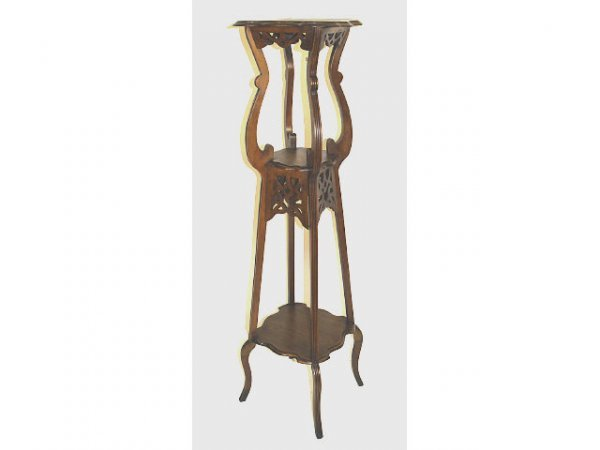 412: ANTIQUE FRENCH THREE TIER PLANT STAND