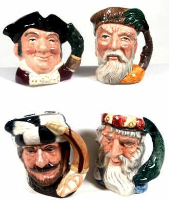 421: FOUR ROUAL DOULTON TOBY MUGS 6470 6552 6672 6539