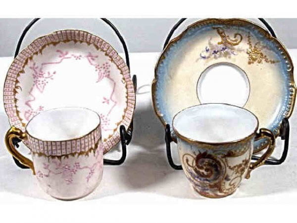 713: TWO HAVILAND LIMOGE CUP & SAUCER SETS