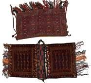 (2) HAND-WOVEN AFGHAN WOOL BAGS, JUVAL, SADDLE