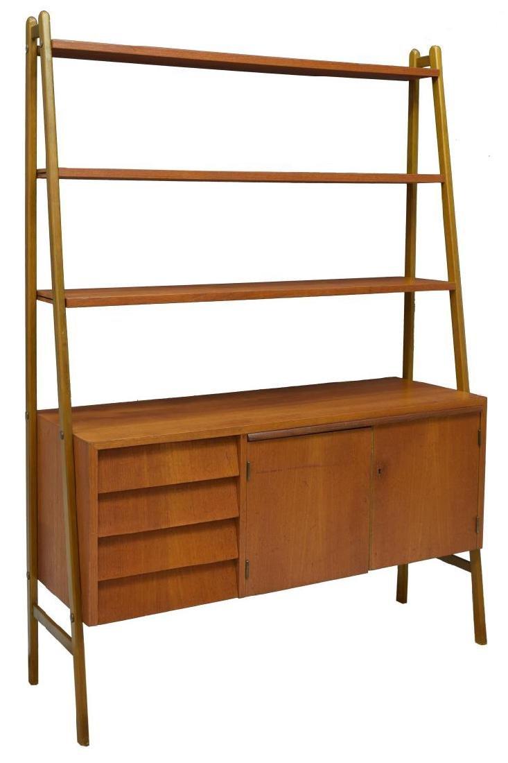 danish midcentury modern teak bookcase