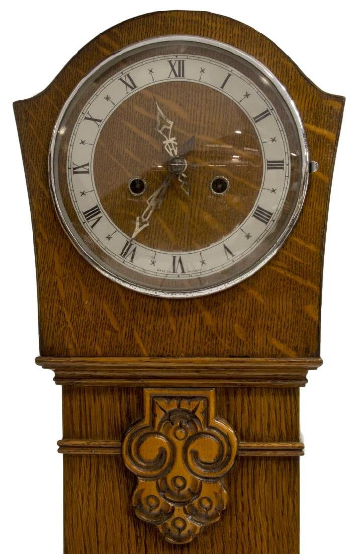 ENGLISH OAK GRANDMOTHER CLOCK C. 1940