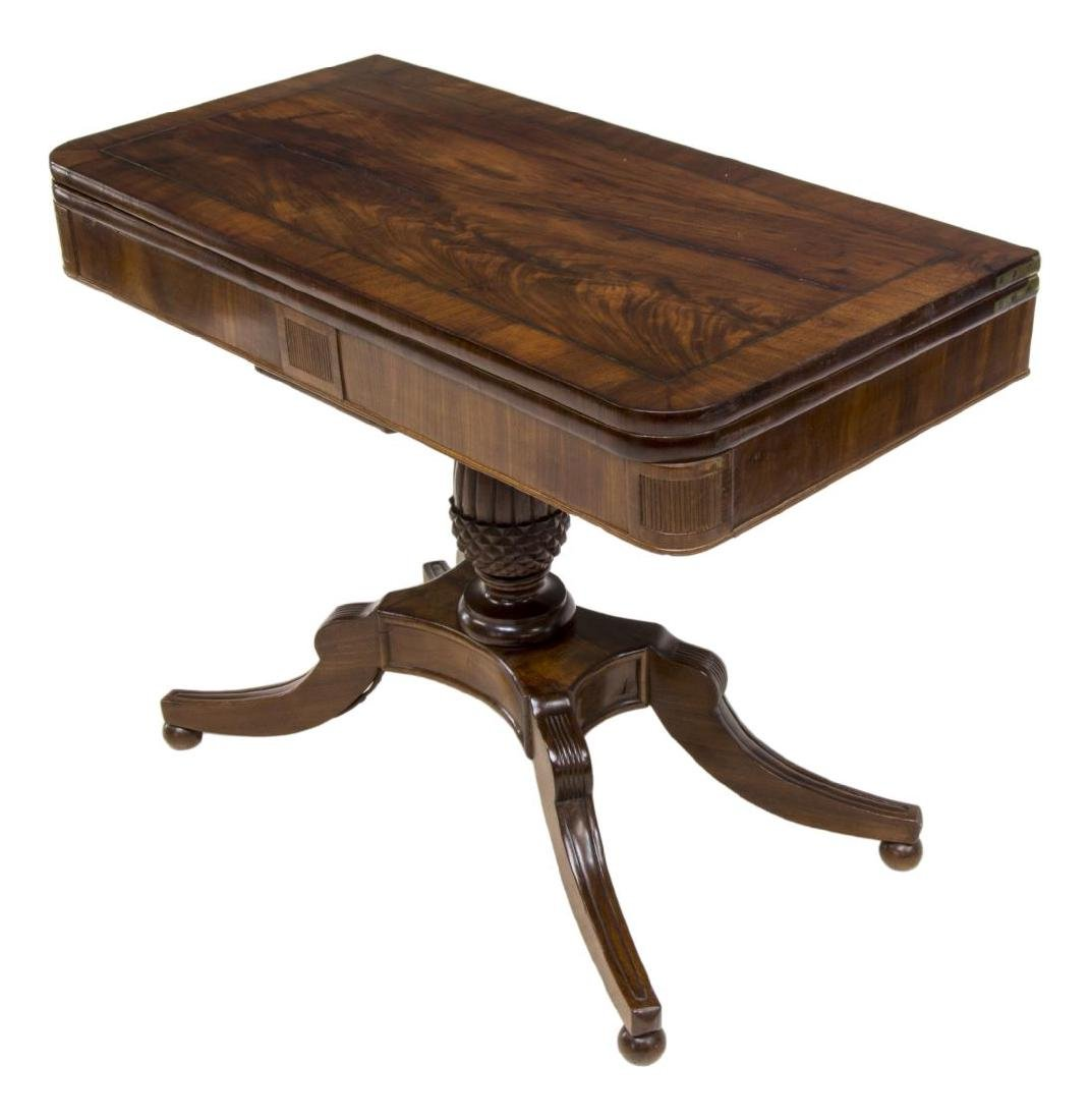 ENGLISH MAHOGANY OCCASSIONAL/GAME TABLE, 19TH C.