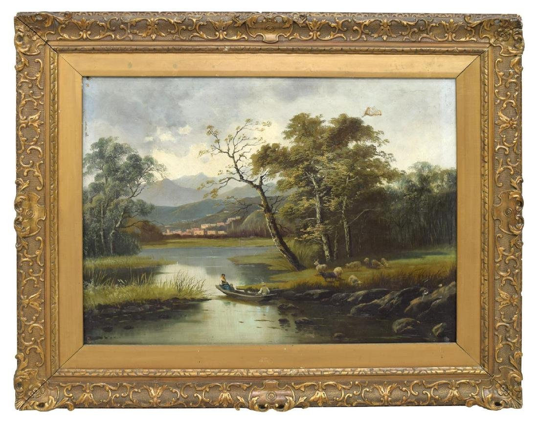 LARGE 19TH C. FRAMED OIL ON CANVAS PAINTING