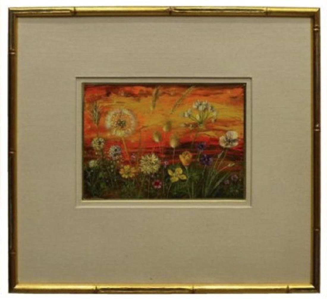 RUTH CHATFIELD (1918-2011) FRAMED CASEIN PAINTING