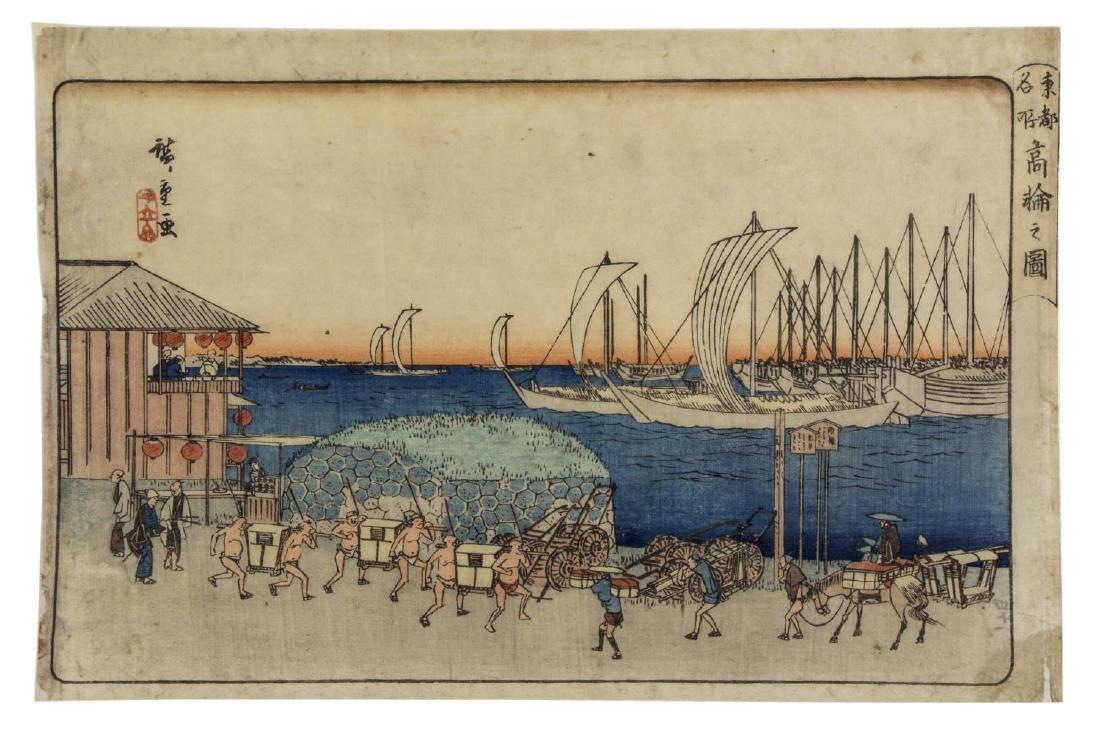 UTAGAWA HIROSHIGE (1797-1858) 'VIEW OF TAKANAWA'