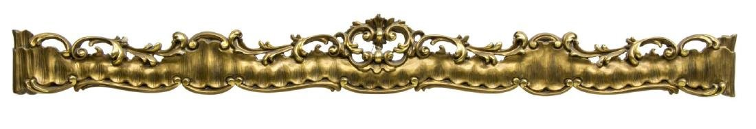 ITALIAN CARVED GILTWOOD CURTAIN VALENCE OR PELMET
