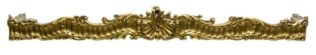 ITALIAN CARVED GILTWOOD CURTAIN VALENCE OR PELMET