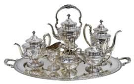 7) TOWLE 'LOUIS XIV' STERLING TEA & COFFEE SERVICE