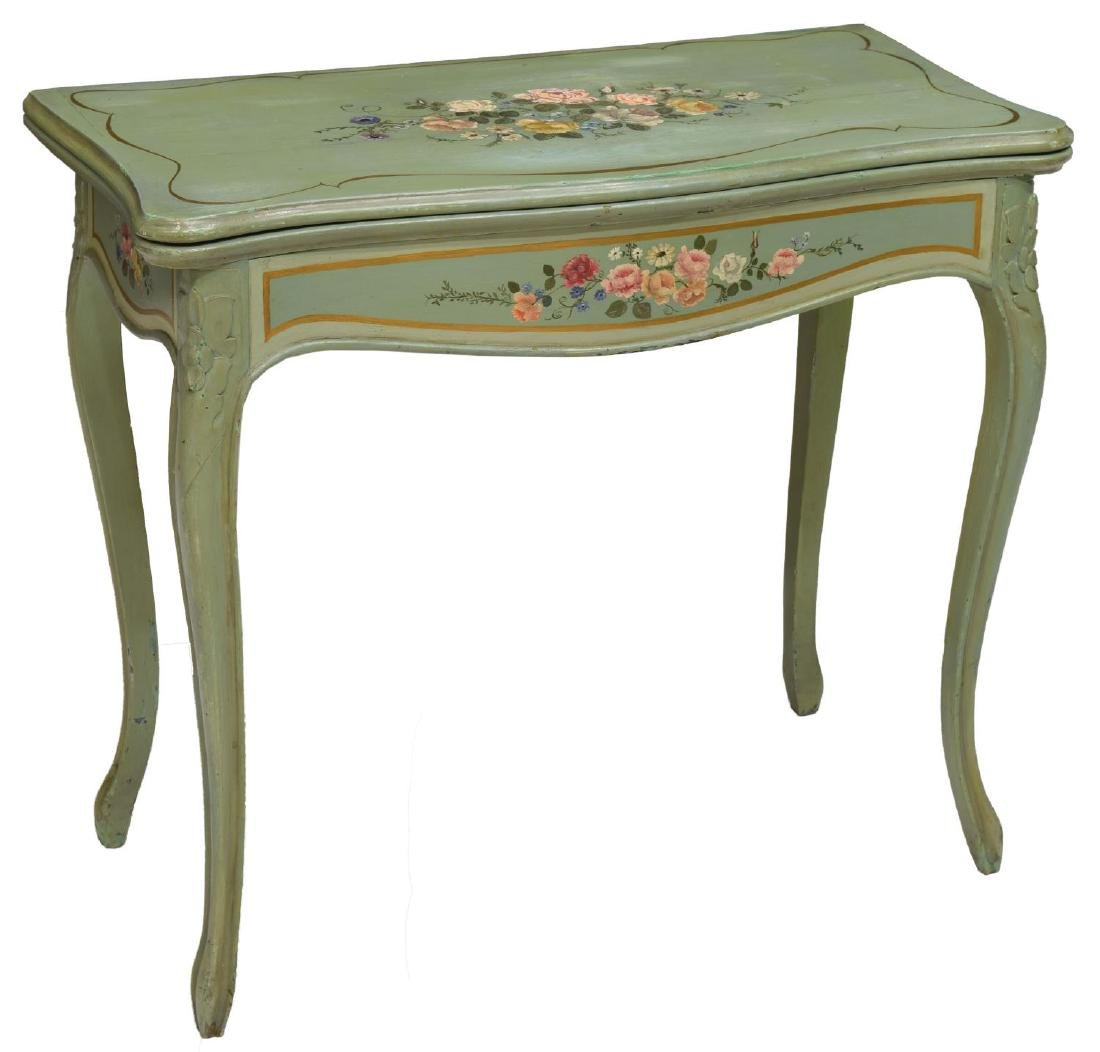 ITALIAN POLYCHROME PAINTED GAME TABLE