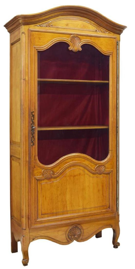 LOUIS XV STYLE GLASS FRONT VITRINE, 20TH C.