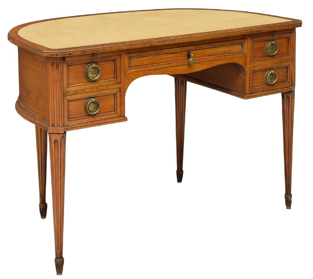 ITALIAN LEATHER TOP LADIES WRITING DESK
