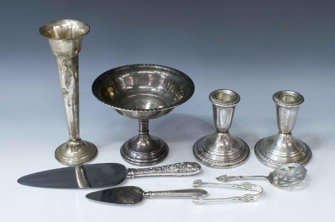 (8) STERLING & WEIGHTED SILVER TABLEWARE