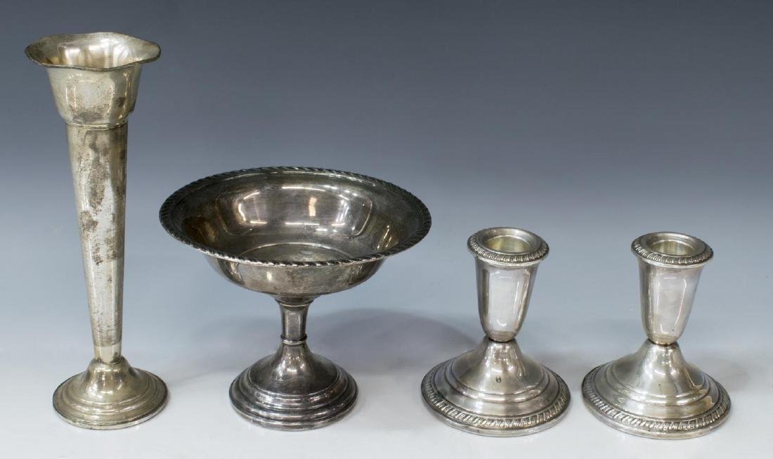 (8) STERLING & WEIGHTED SILVER TABLEWARE - 2
