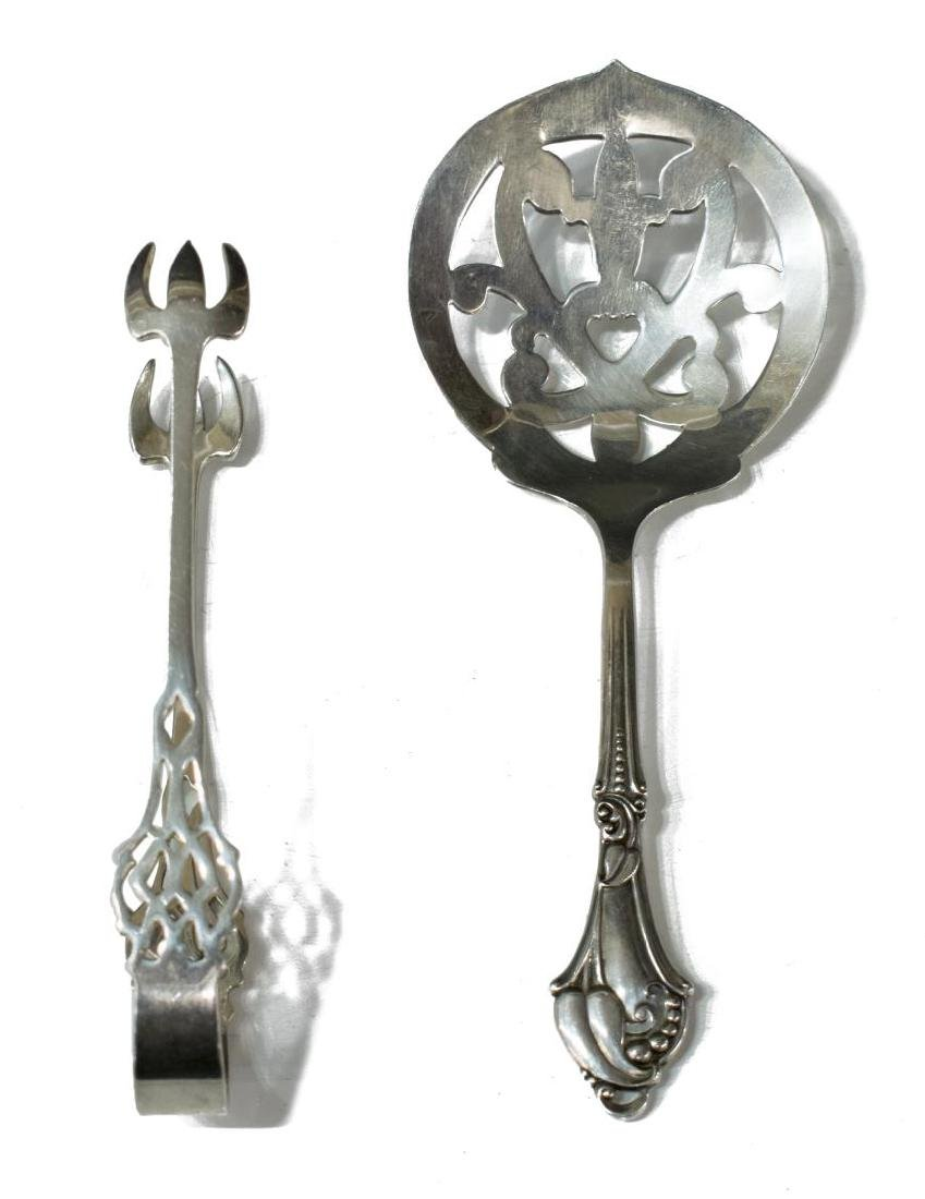 (8) STERLING & WEIGHTED SILVER TABLEWARE - 4