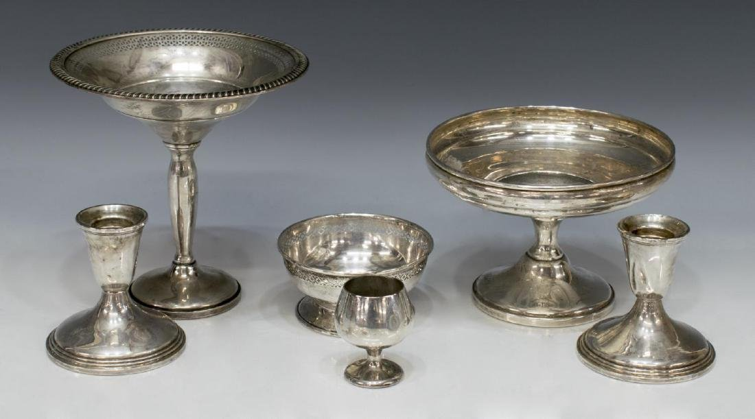 (6) SCRAP & WEIGHTED STERLING SILVER TABLE ITEMS