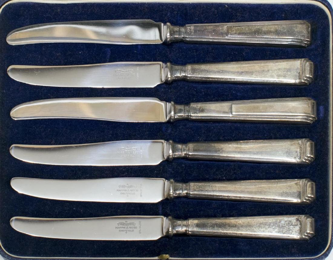 (LOT) CASED STERLING & SILVERPLATE SERVICE WARE - 3