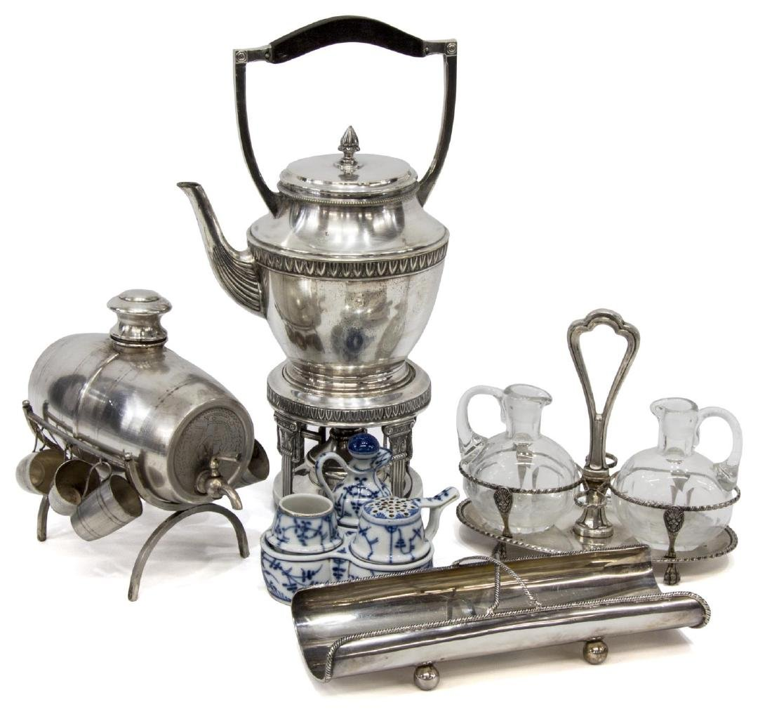(5)CONTINENTAL 800 SILVER, SILVERPLATE & TABLEWARE