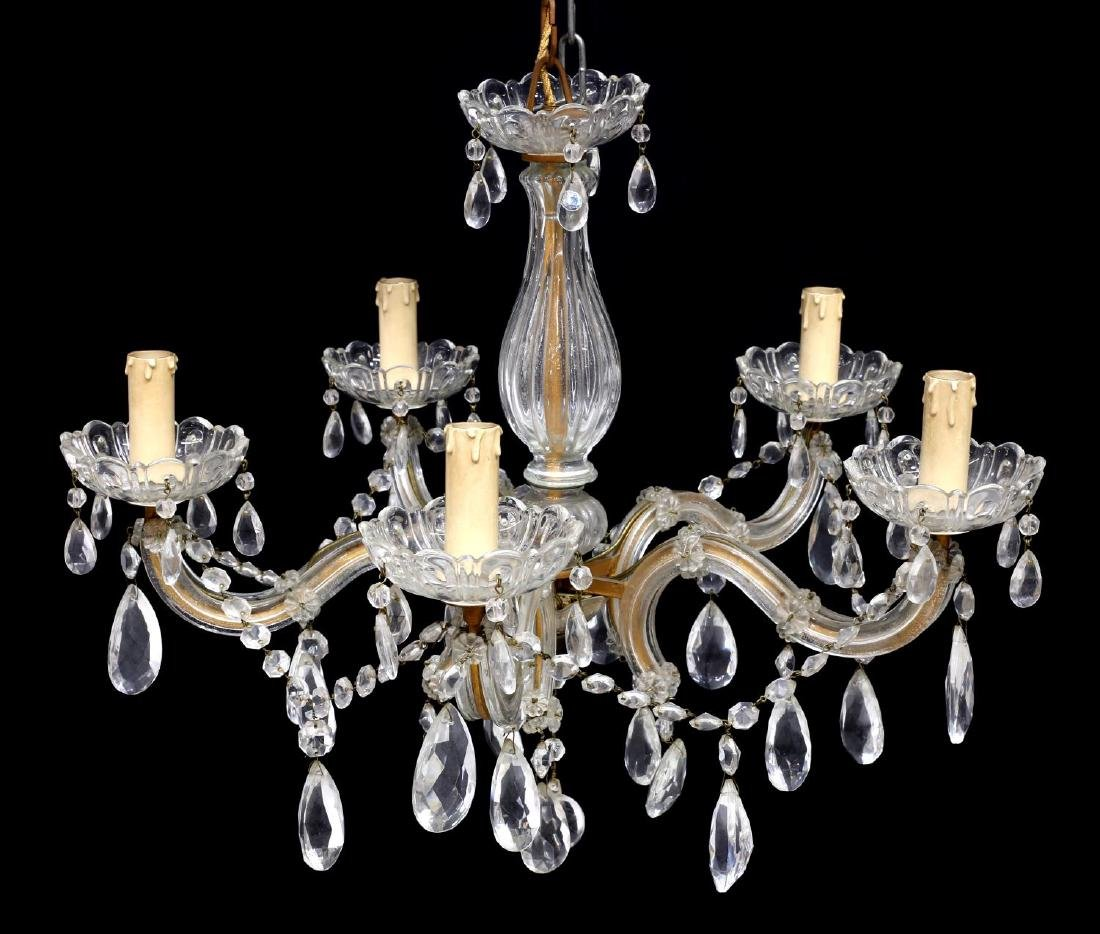 MARIA THERESA 5-LIGHT CHANDELIER, 20TH C