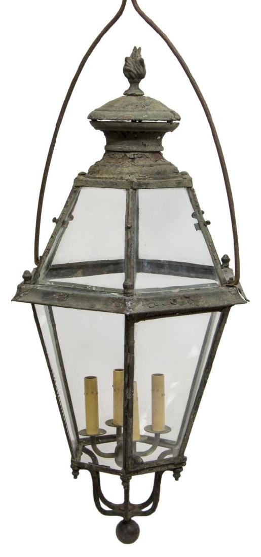 (2) LARGE CONTINENTAL IRON & GLASS 4LT LANTERN - 2