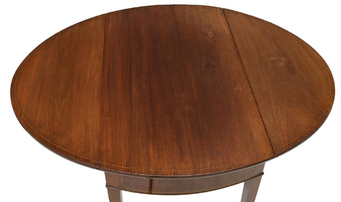 GEORGIAN MAHOGANY DROP LEAF PEMBROKE TABLE - 3