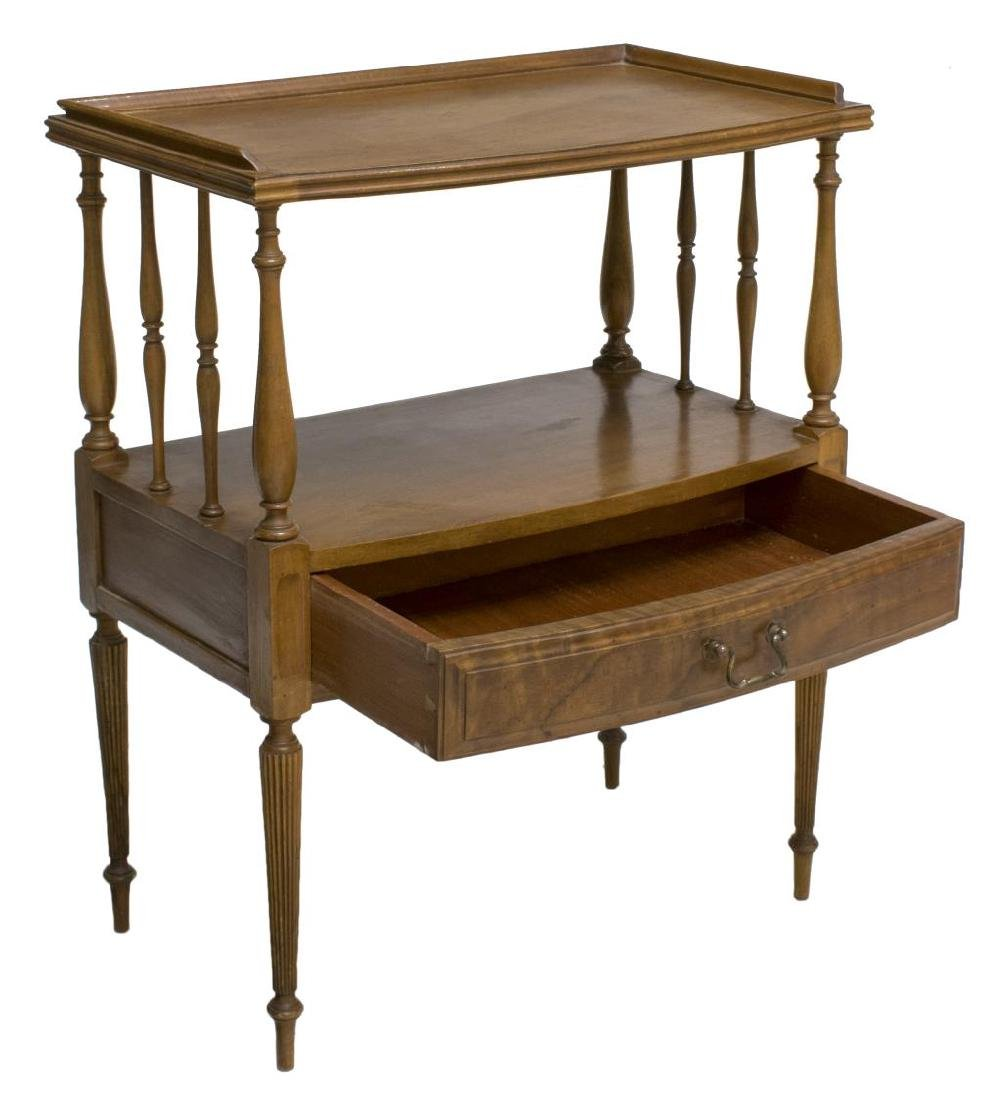 (PAIR) SHERATON STYLE SIDE TABLES - 2