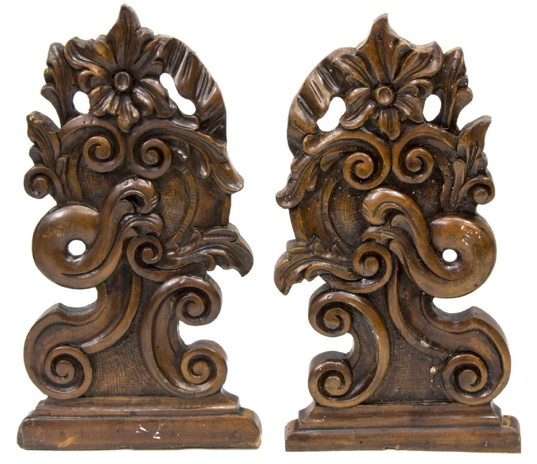 (4) CONTINENTAL CARVED ARCHITECTURAL ELEMENTS - 2