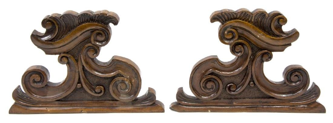 (4) CONTINENTAL CARVED ARCHITECTURAL ELEMENTS - 3