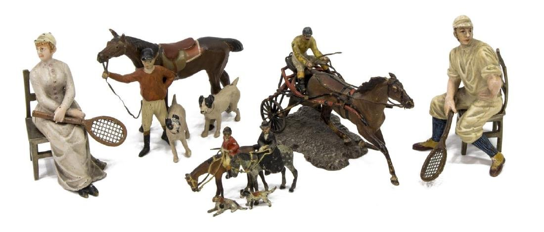 (5) PAINTED LEAD TOY FIGURES/MINIATURES, SPORTS