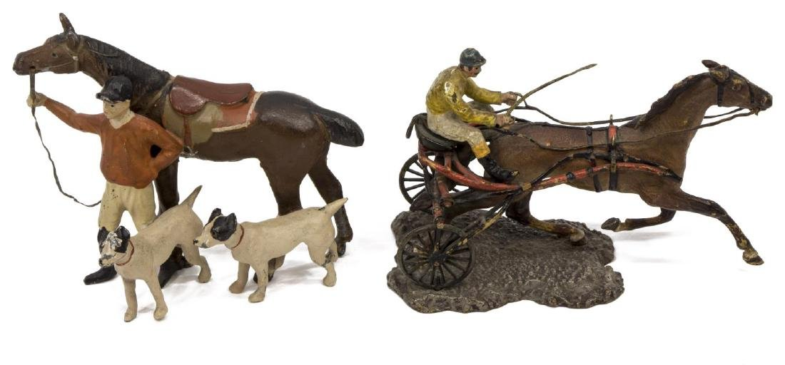 (5) PAINTED LEAD TOY FIGURES/MINIATURES, SPORTS - 3