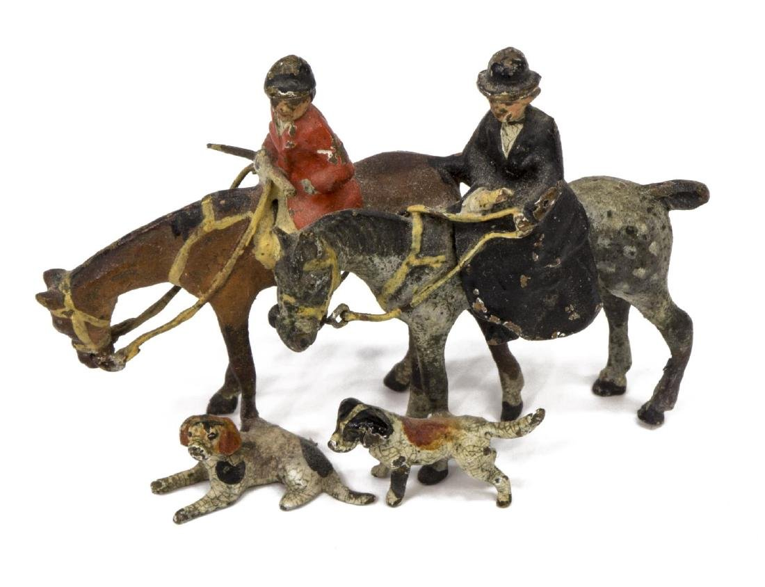 (5) PAINTED LEAD TOY FIGURES/MINIATURES, SPORTS - 4