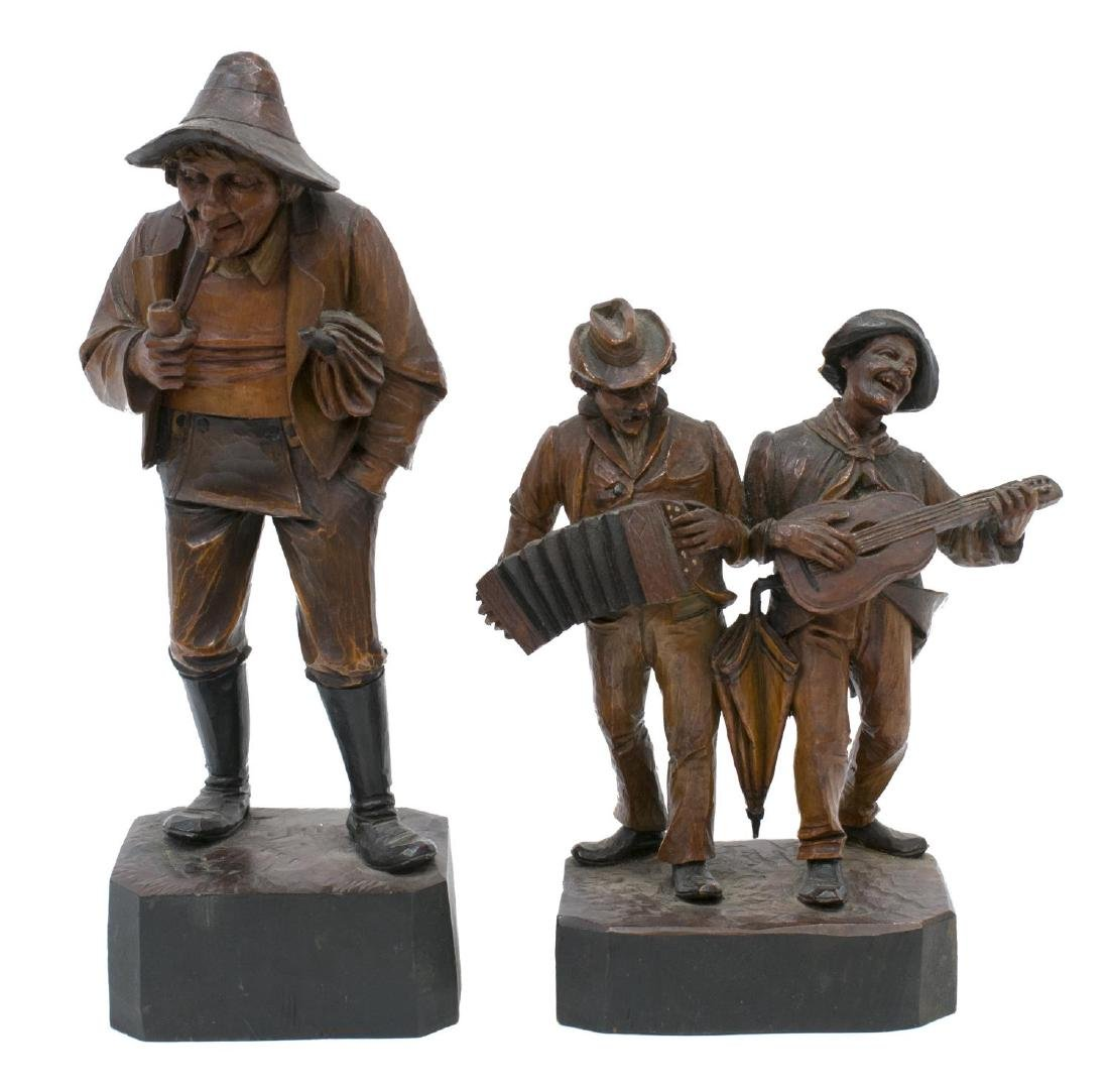 (5) GROUP OF CARVED WOODEN FIGURES - 2