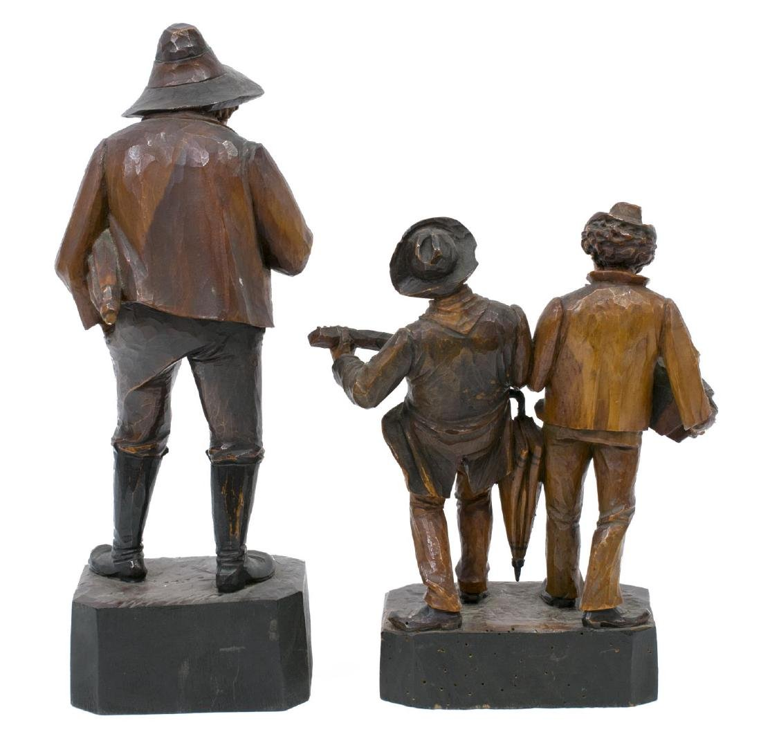 (5) GROUP OF CARVED WOODEN FIGURES - 3