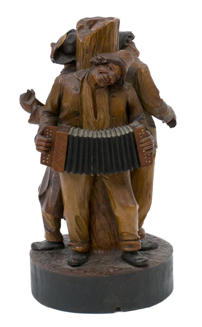 (5) GROUP OF CARVED WOODEN FIGURES - 4