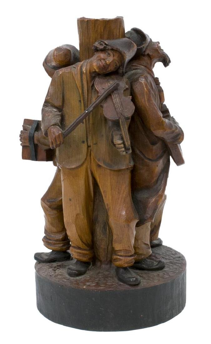 (5) GROUP OF CARVED WOODEN FIGURES - 5
