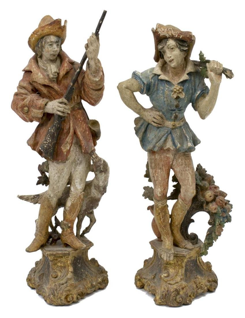 (5) GROUP OF CARVED WOODEN FIGURES - 6