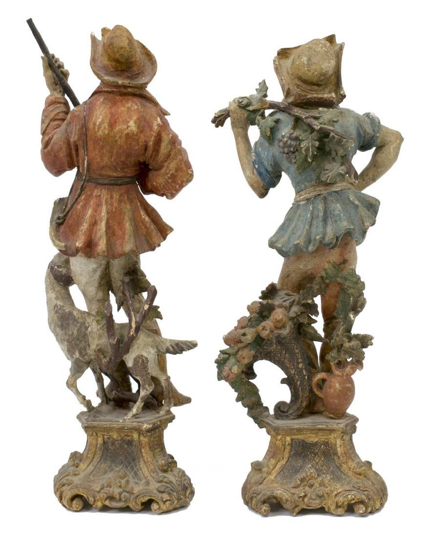 (5) GROUP OF CARVED WOODEN FIGURES - 7
