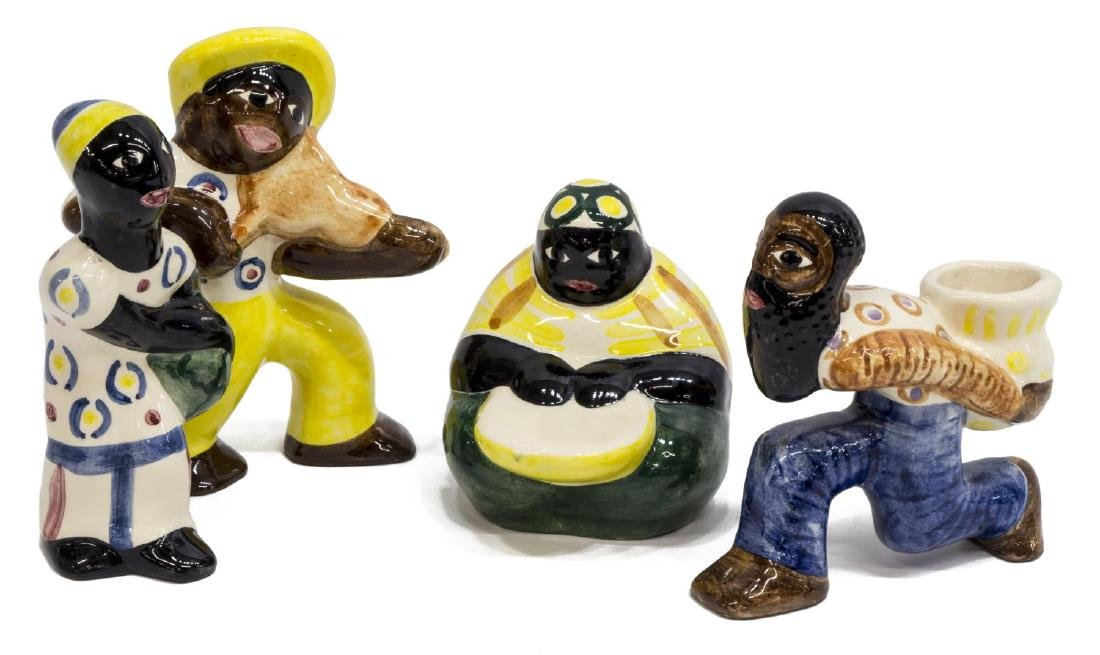 (4) SHEARWATER POTTERY AFRICAN-AMERICAN FIGURES