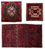 3 SMALL HANDTIED KURDISH  PERSIAN RUGS