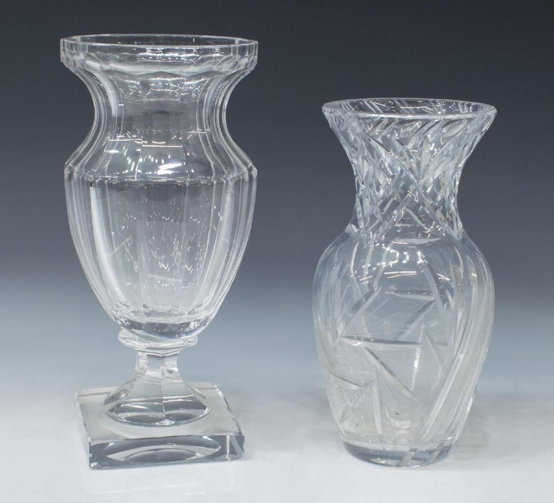 (16) GLASS SERVICEWARE DESSERT SET, STEMS, VASES - 3