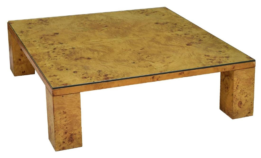 MODERN BIRDSEYE MAPLE COFFEE TABLE, WILLY RIZZO