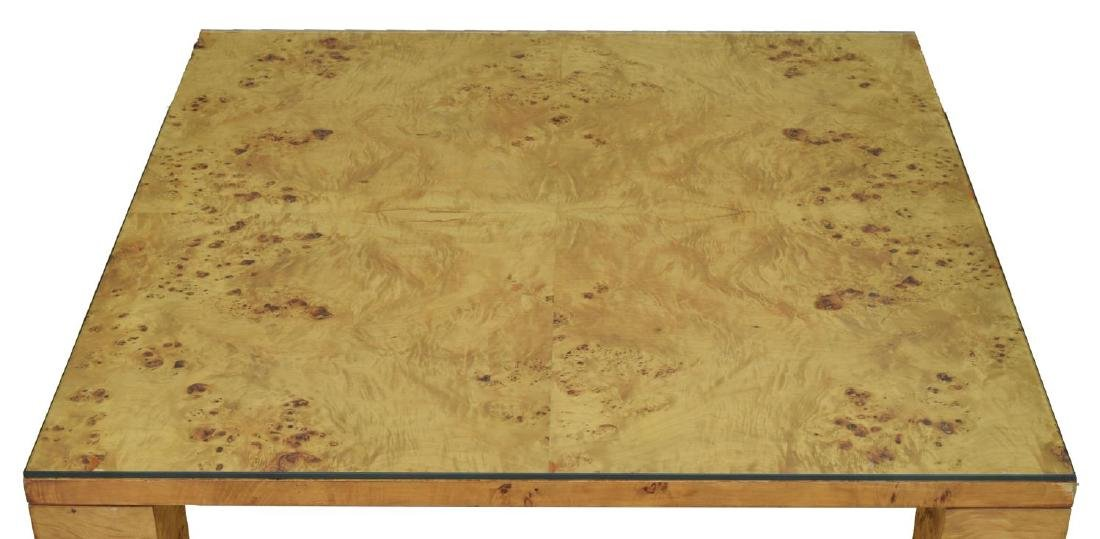 MODERN BIRDSEYE MAPLE COFFEE TABLE, WILLY RIZZO - 2
