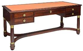 FRENCH EMPIRE STYLE ROSEWOOD LEATHER WRITING DESK