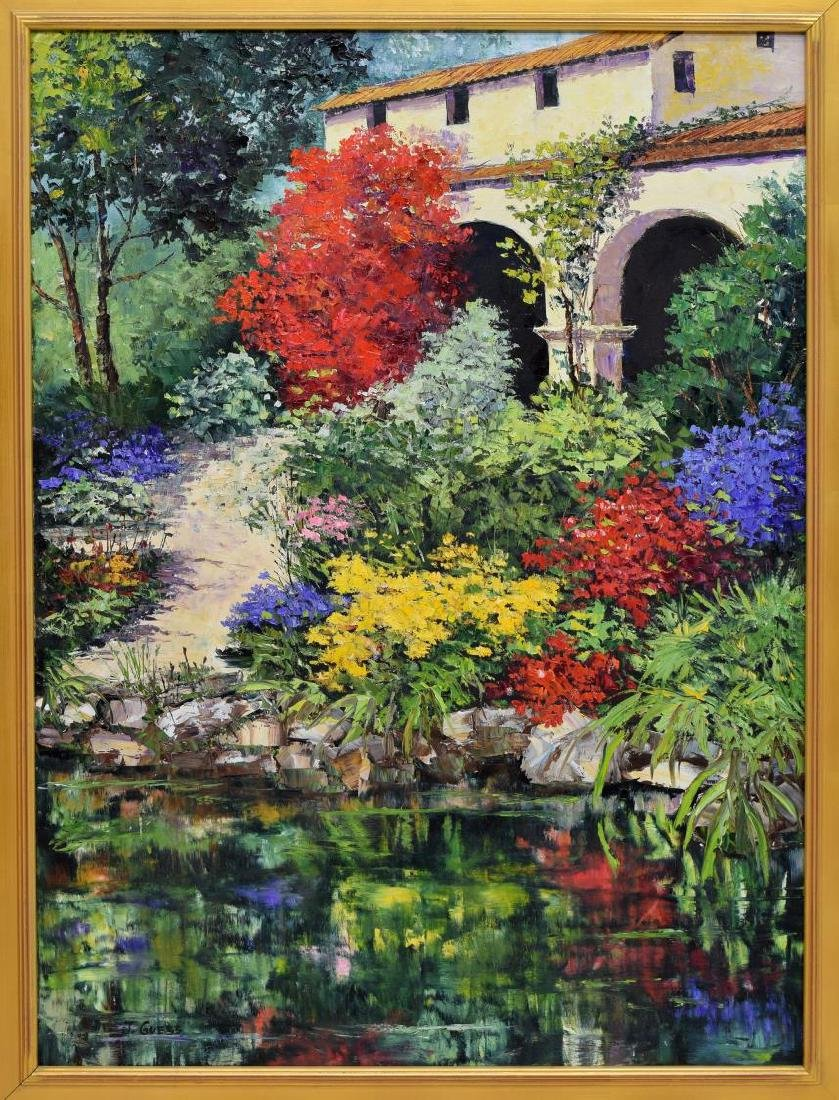 JAN GUESS (TEXAS) PAINTING ON CANVAS, SPRING PATH