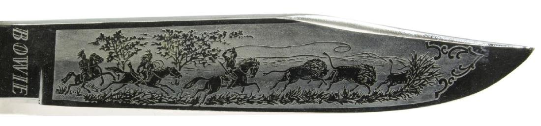 (3) BOWIE STYLE KNIVES, TEXAS CUSTOM. EDGE BRAND - 4
