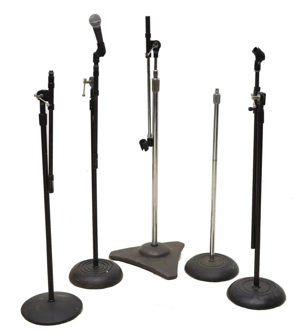 (6) GROUP OF MODERN MICROPHONE STANDS