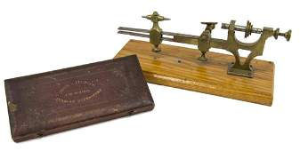 2 WATCHMAKERS LATHE AND PIVOTING TOOL SET