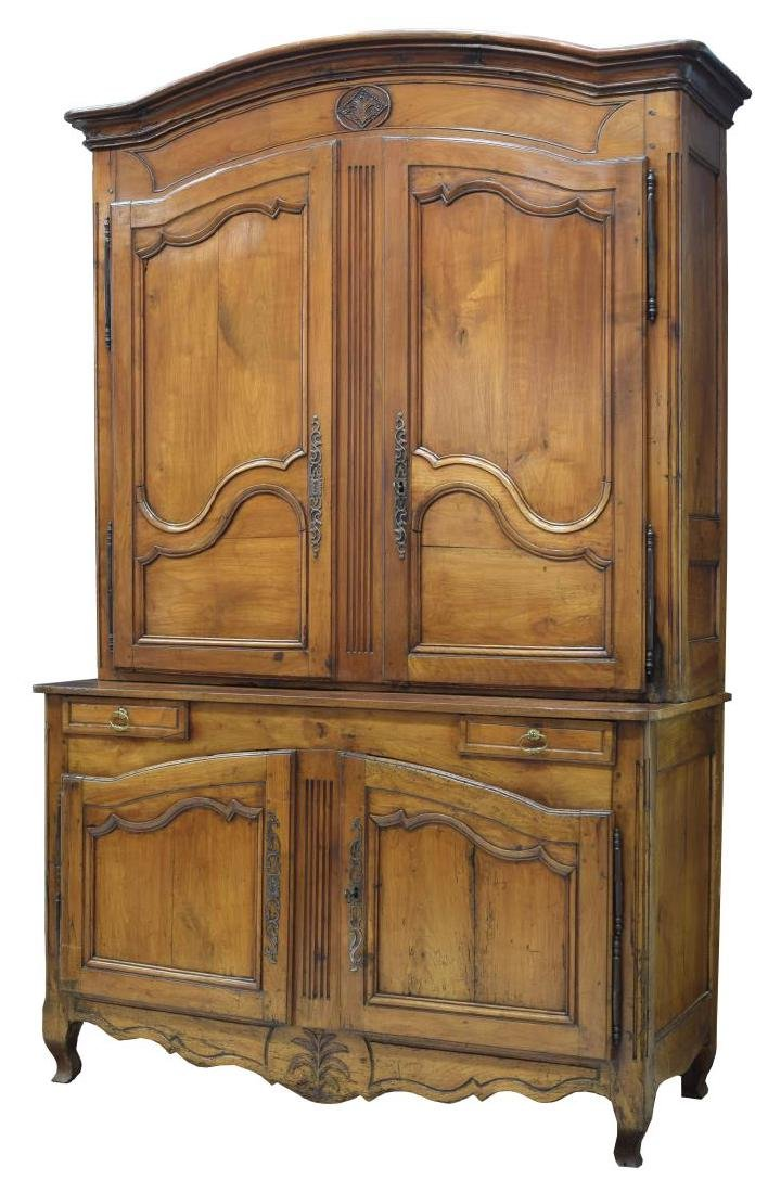 FRENCH LOUIX XVI DEUX CORPS CABINET, 18TH C.