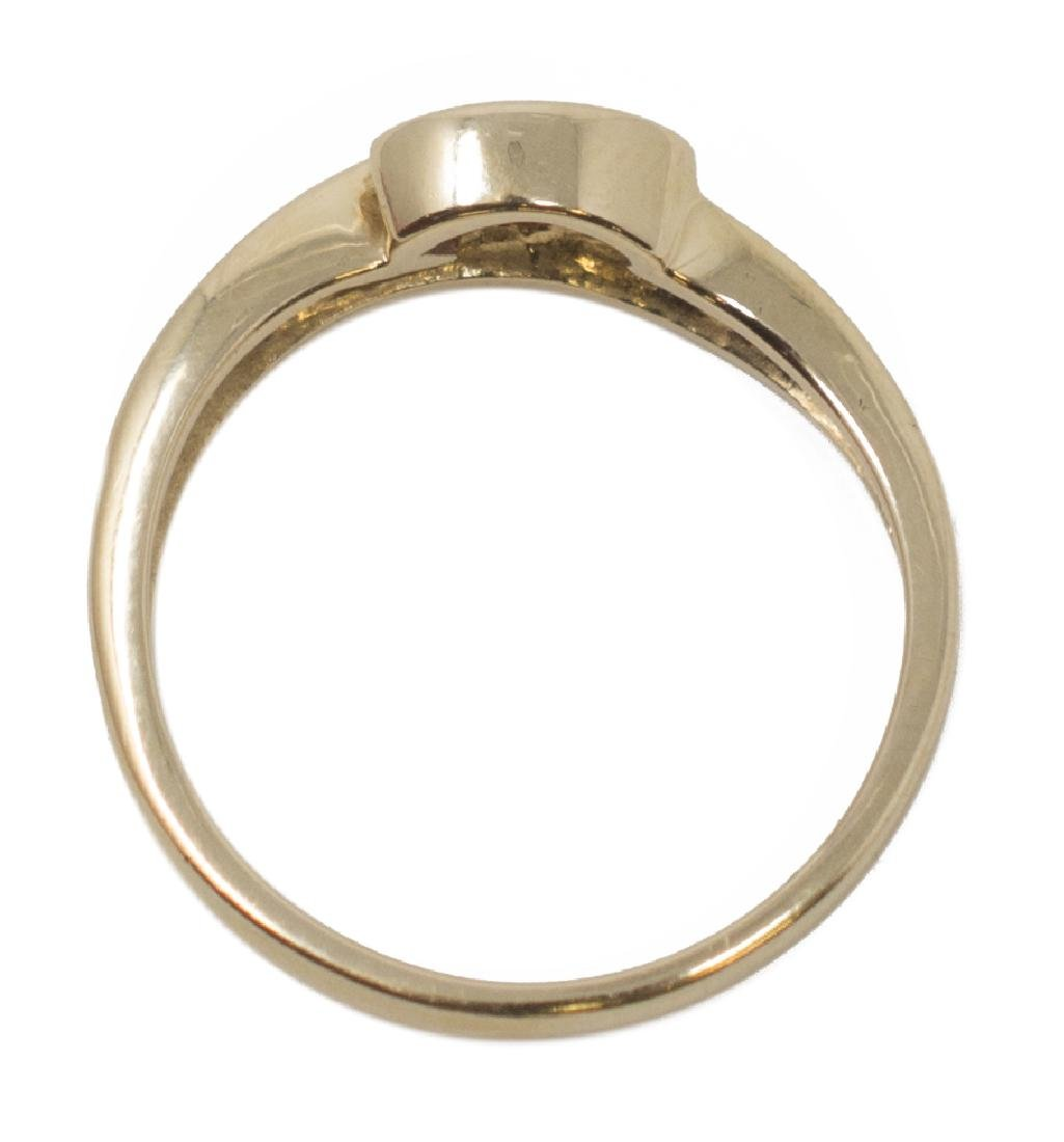 18KT YELLOW GOLD, RUBY & DIAMOND ESTATE RING - 3